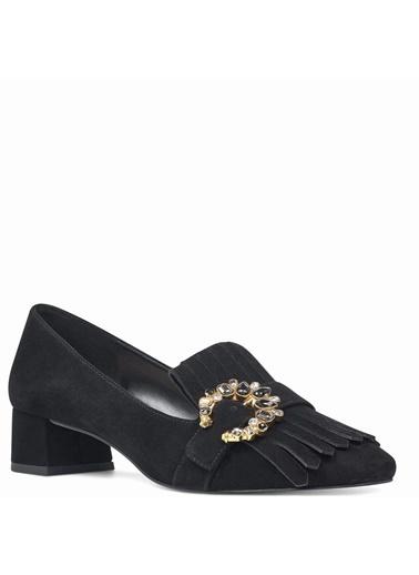 Nine West Kısa Topuklu Ayakkabı Siyah